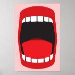 boca abierta grande