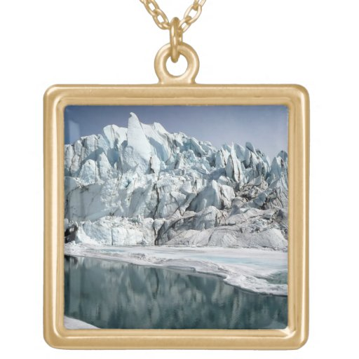 Boca Alaska del glaciar de Matanuska Colgante Cuadrado