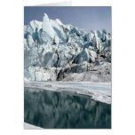 Boca Alaska del glaciar de Matanuska Felicitacion