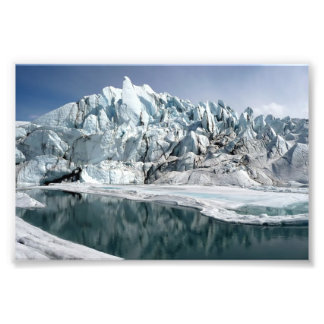 Boca Alaska del glaciar de Matanuska Fotografías