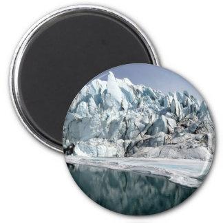 Boca Alaska del glaciar de Matanuska Imán Para Frigorifico