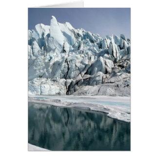 Boca Alaska del glaciar de Matanuska Tarjeta Pequeña