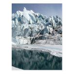 Boca Alaska del glaciar de Matanuska Tarjetas Postales