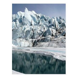 Boca Alaska del glaciar de Matanuska Tarjeta Postal