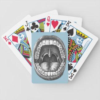 Boca anatómica del vintage cartas de juego