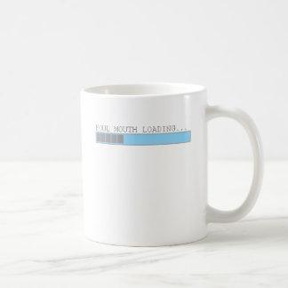 Boca asquerosa que carga humor para hombre diverti taza de café