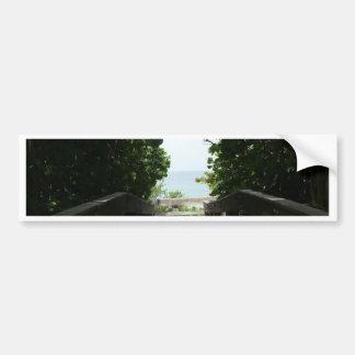 Boca Beach Boardwalk Bumper Sticker