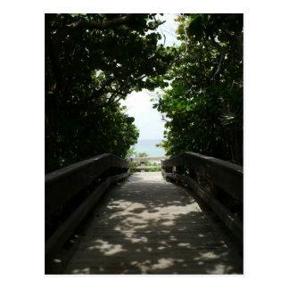 Boca Beach Boardwalk Post Card