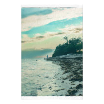 Boca Chica Beach Sunset Dedicated to Red Stationery