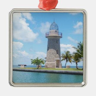 Boca Chita Lighthouse Metal Ornament