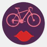 boca de la bici de la mujer pegatinas