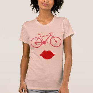boca de la bici de la mujer camiseta