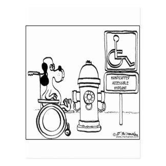 Boca de riego accesible perjudicada tarjetas postales