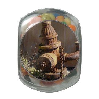 Boca de riego oxidada jarras de cristal jelly bely