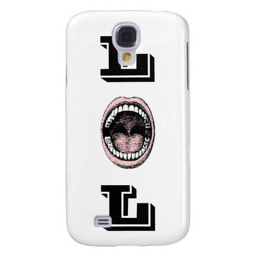 ¡Boca de risa grande LOL que ríe hacia fuera ruido Funda Para Galaxy S4