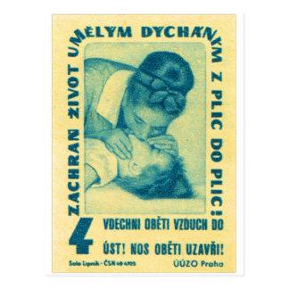 boca del CPR del kitsch del vintage para articular Postales