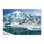 Boca del glaciar de Matanuska en Alaska Impresiones En Lienzo Estiradas