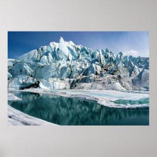 Boca del glaciar de Matanuska en Alaska Posters