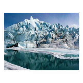 Boca del glaciar de Matanuska en Alaska Postal
