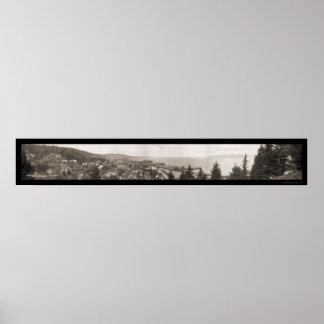 Boca del río Columbia foto 1914 de Astoria, Oregon Poster