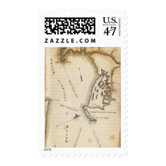 Boca del río Columbia Timbre Postal