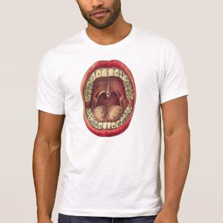 boca dental de la anatomía de la camiseta del
