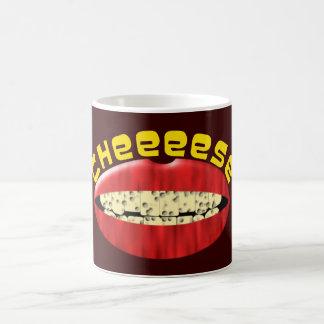 Boca dientes queso sonrisa cheese smile teeth mout taza clásica