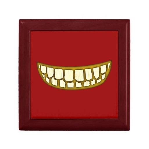 Boca dientes sonrisa afectada mouth teeth grin caja de joyas