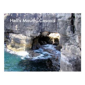 Boca do Inferno (Hell's mouth) Cascais postcard