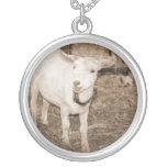 Boca doeling de la cabra de la sepia de Saanen abi Pendientes Personalizados