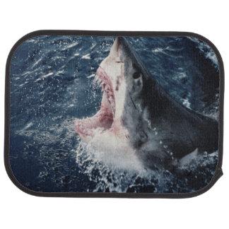 Boca elevada del tiburón abierta alfombrilla de auto