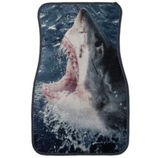 Boca elevada del tiburón abierta alfombrilla de coche