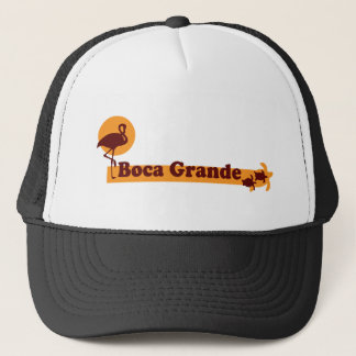 Boca Grande - Beach Design. Trucker Hat