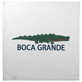 Boca grande - cocodrilo servilletas imprimidas