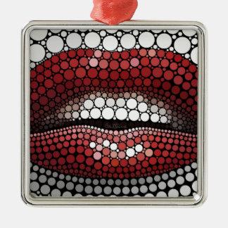 Boca hecha de círculos adorno de navidad