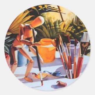 """""""Boca Mixer"""" Art Festival Watercolor Classic Round Sticker"""