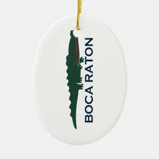 Boca Raton - Alligator. Ceramic Ornament