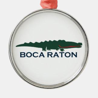 Boca Raton - Alligator. Metal Ornament