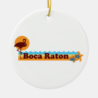 Boca Raton - Beach Design. Ceramic Ornament