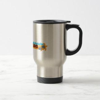 Boca Raton - Beach Design. 15 Oz Stainless Steel Travel Mug