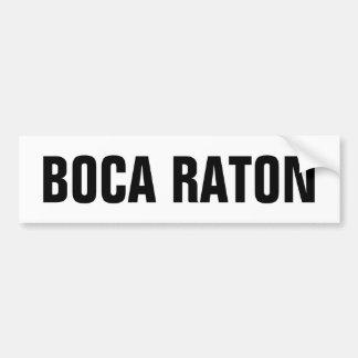 Boca Raton Etiqueta De Parachoque