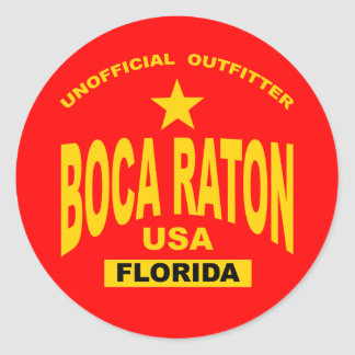 Boca Raton Classic Round Sticker