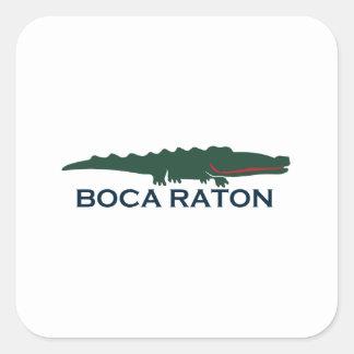 Boca Raton - cocodrilo Pegatina Cuadrada