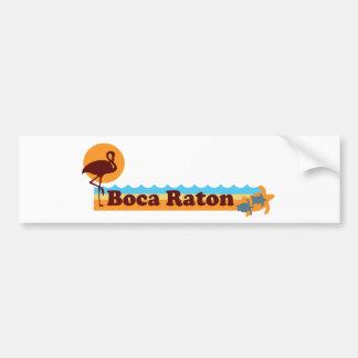 Boca Raton - diseño de la playa Pegatina Para Auto