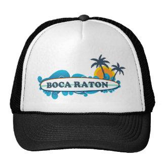 Boca Raton - diseño de la resaca Gorros Bordados