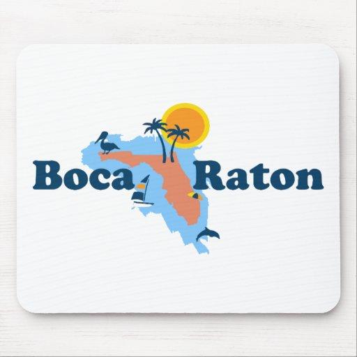 Boca Raton - diseño del mapa Alfombrilla De Ratón