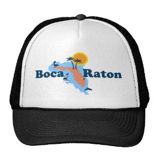 Boca Raton - diseño del mapa Gorros Bordados
