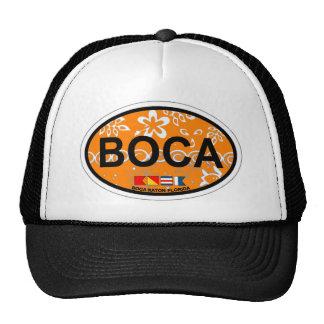 Boca Raton - diseño oval Gorras De Camionero