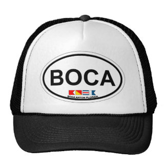 Boca Raton - diseño oval Gorros