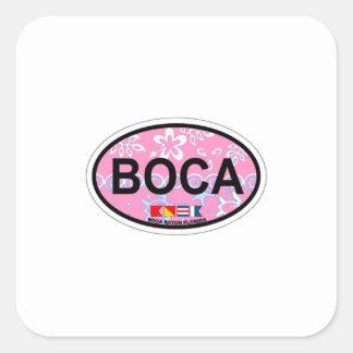Boca Raton - diseño oval Pegatina Cuadrada